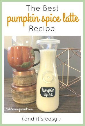 Pumpkin Spice Latte Recipe | The Blooming Carrot