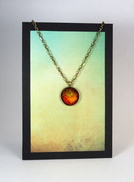 Necklace display, rectangular, suitable for hanging on the wall.
