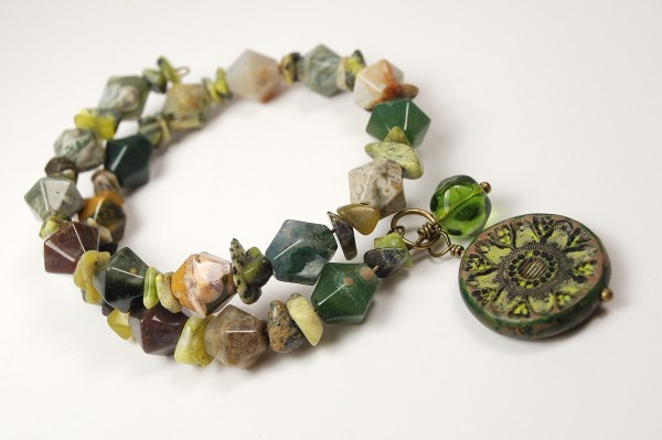 Bead Soup Bracelet featuring Rustic Charm by The Blue Bottle Tree.