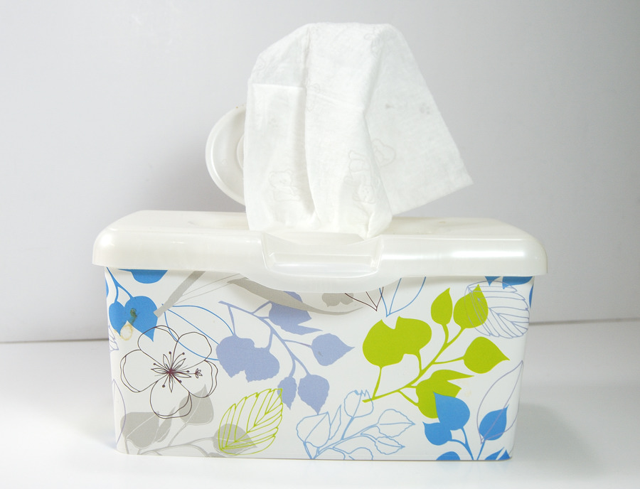 Box of baby wipes, an indispensable tool in the craft studio by The Blue Bottle Tree