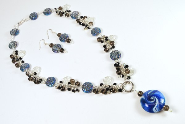 Necklace and earrings for the 6th Do Over Challenge.