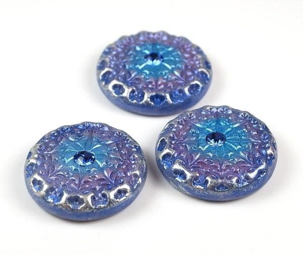 Faux Czech glass buttons by The Blue Bottle Tree.