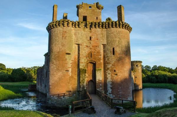 Caerverlock Castle in Dumfries, Scotland