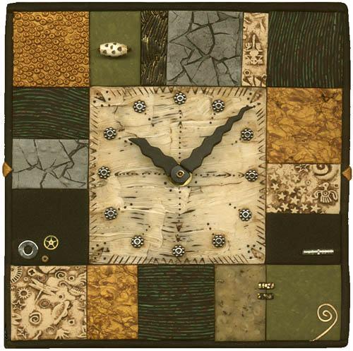 Tiled clock by Irene Semanchuk, 2001.