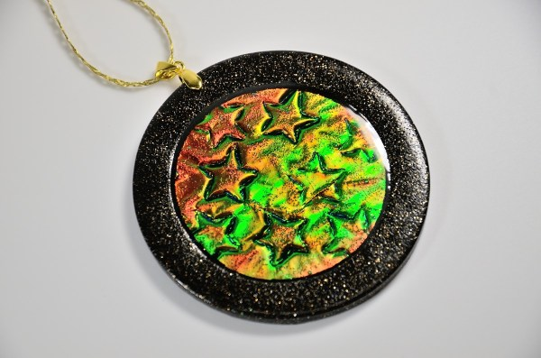 polymer clay holo effect ornament