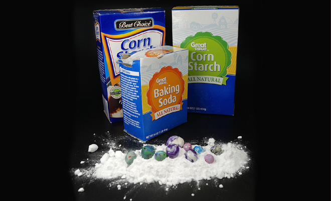 Learn why you would use baking soda or corn starch with polymer clay. More at The Blue Bottle Tree.