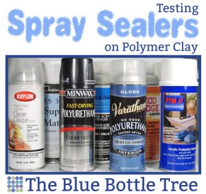 Which spray sealers work well on polymer clay? See the results of the tests at The Blue Bottle Tree.