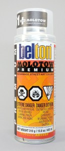 Molotow Premium is a tiny bit sticky on Fimo polymer clay, but gives a fragile, pebbly finish on all brands of polymer clay.