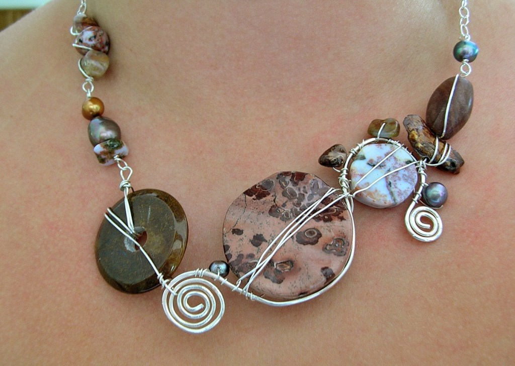 Staci Louise necklace with natural stones