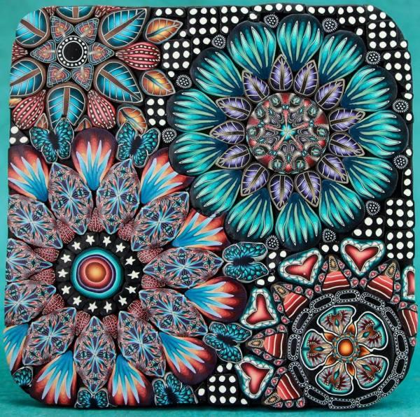 Beautiful cane patterns by Ivy Niles of iKandiClay