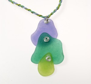 Polymer clay faux sea glass can be made so thin you can stack the colors and see through them.