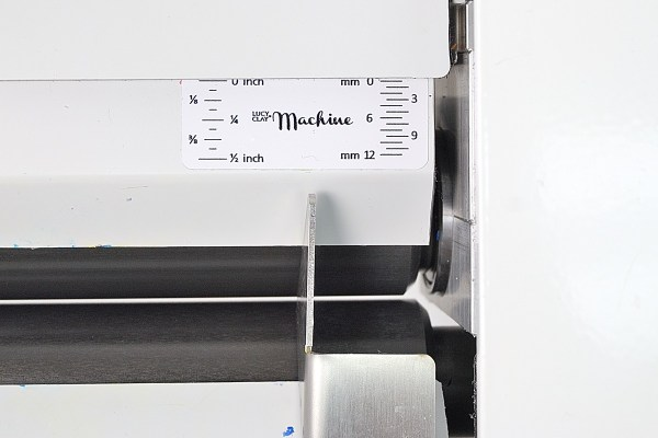 The sheet thickness markings on the LC Machine are not very accurate.