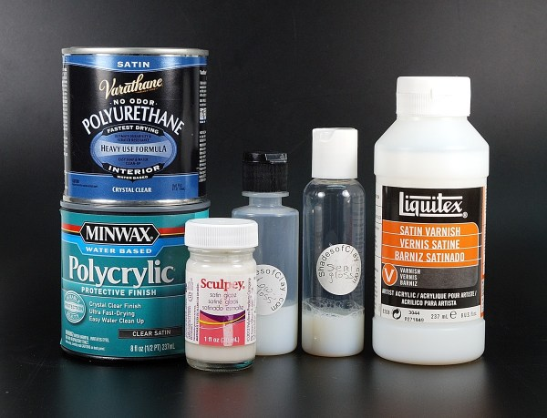 Satin or semi-gloss polymer clay sealers were tested.