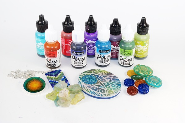 Learn about using alcohol inks with polymer clay.