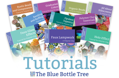 Easy-to-follow, comprehensive polymer clay tutorials from The Blue Bottle Tree, the home of Polymer Clay Success with Ginger Davis Allman.