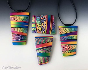 Missoni-Inspired brooches and pendants by Carol Blackburn