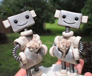 Robot Couple by Robots Are Awesome