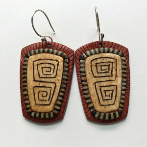 Tribal earrings by Shelley Atwood