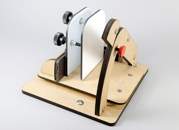 The LC Angle Base will work with the LC Mini Slicer if you add a magnet on the backstop.