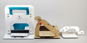 Comparison of the front of the three Lucy Clay Tools slicers.