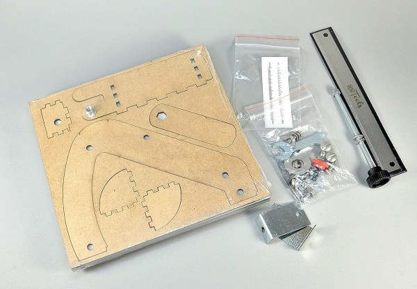 Here are the components of the LC Mini Slicer Kit.