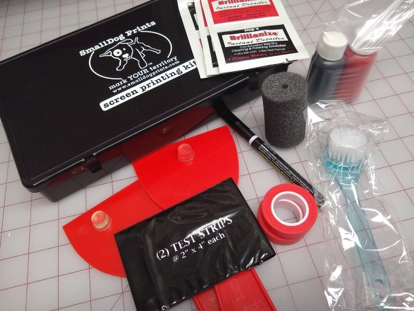 Screen printing kit from Small Dogs Prints.