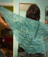 Travelling Woman Shawl | The Blue Brick | Inspired Yarns