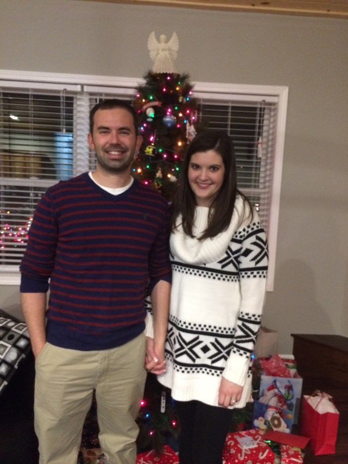 Our first Christmas in our house and as a married couple.