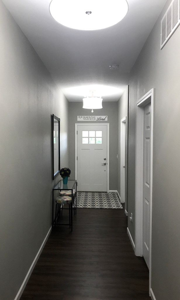 A look down our hallway.