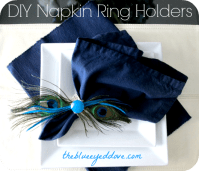 The Blue Eyed Dove - DIY Napkin Ring Holders - The Blue ...