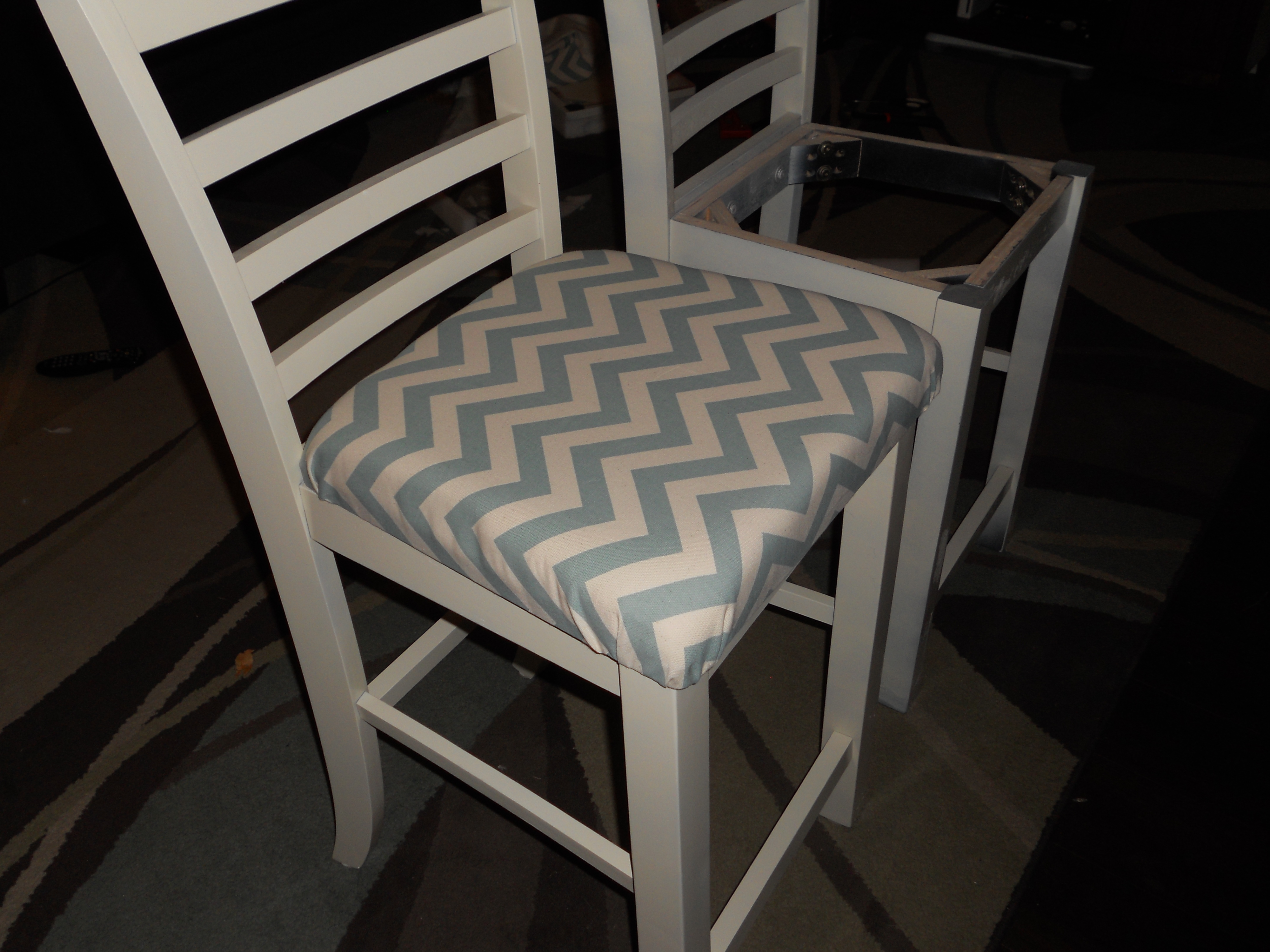 Diy Chair Cushions Diy Painting Chairs And Adding Upholstered Cushions To A