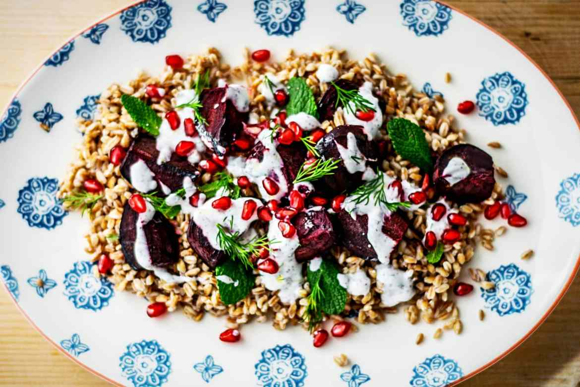 Farro and Roasted Beetroot Salad