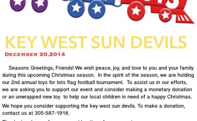 Key West Sun Devils Seeking Donations For Toys For Tots