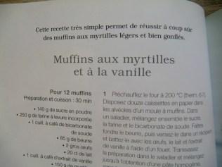 muffin myrtille