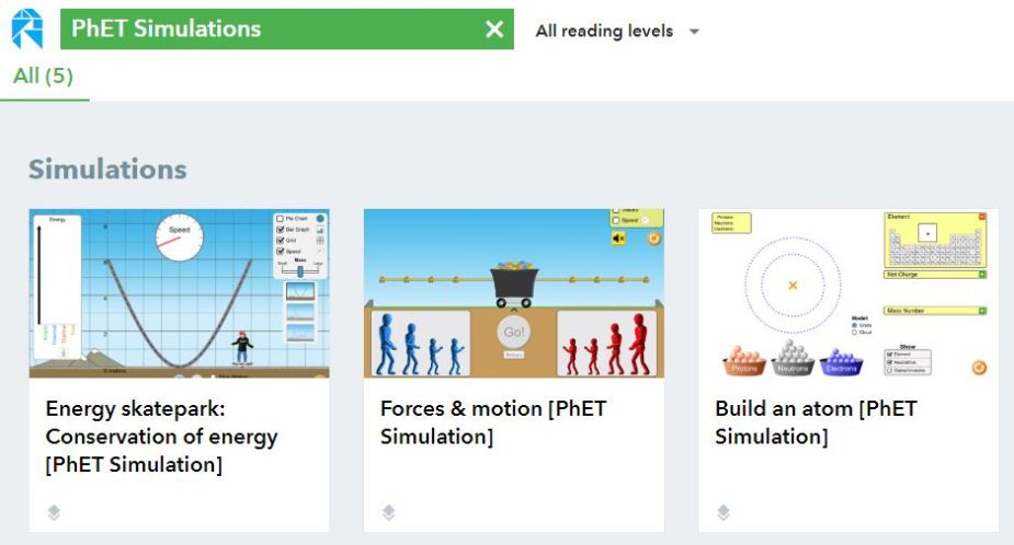Activel Learn PhET content images