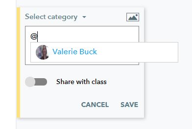 Using @ to chat in Actively Learn