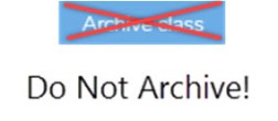 Do Not Archive
