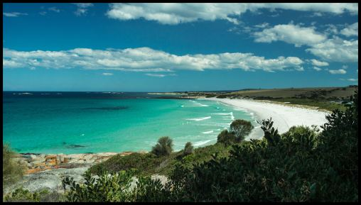 Beach north of The Gardens, Bay of Fires, Tasmania