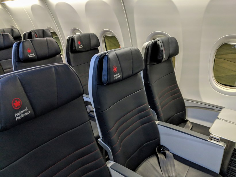 Air Canada Boeing 737 MAX 8 Economy Class Preferred Seat