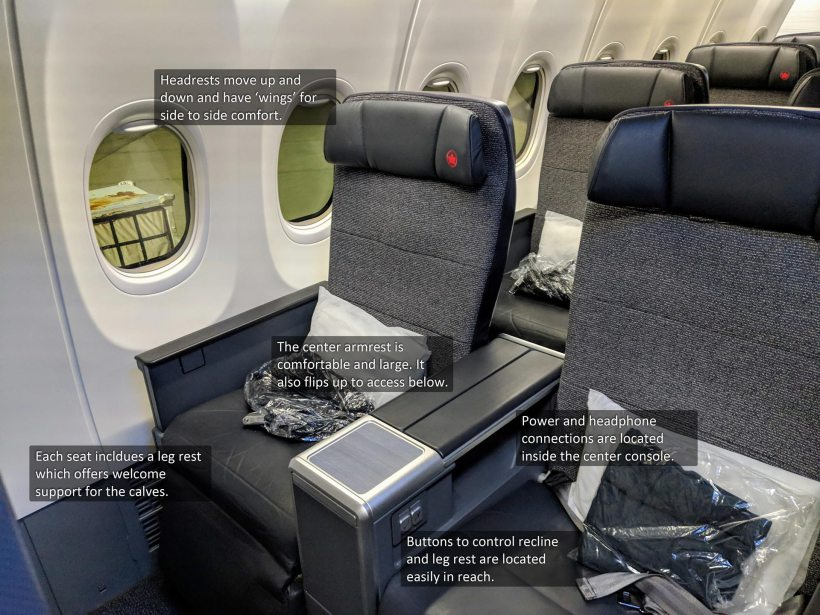 Air Canada Boeing 737 MAX 8 Business Class Seats
