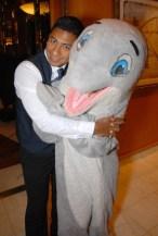 Jymmi dolphin hug