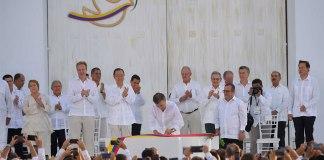 Cartagena peace accord signing ceremony