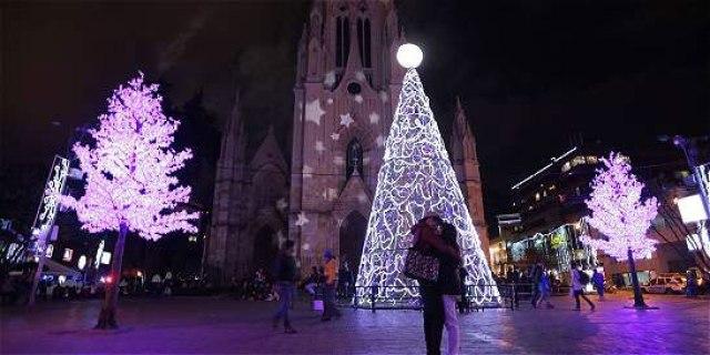 Bogotá Christmas lights