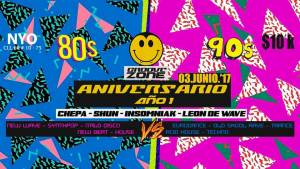 GrooveZone first anniversary - 80s vs 90s @ NYO Bar | Bogotá | Bogotá | Colombia