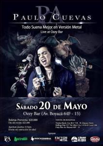 Paulo Cuevas Live at Ozzy Bar @ Ozzy Bar Rock | Bogotá | Bogotá | Colombia