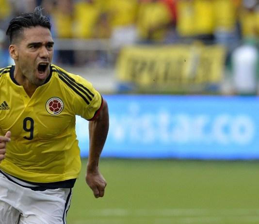 Falcao celebrating goal