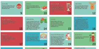 English language advent calendar