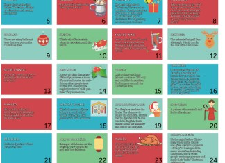 English language advent calendar