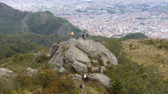 View from the páramo above Bogotá. Green spaces help mental health. Photo: Steve Hide