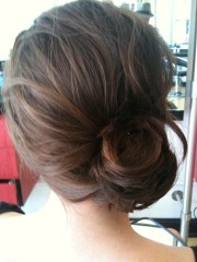 side chignon wedding hairstyles